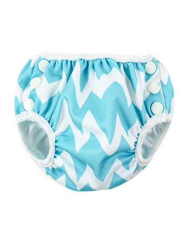 Bumkins Medium Chevron Swim Diaper-BLUE-Medium