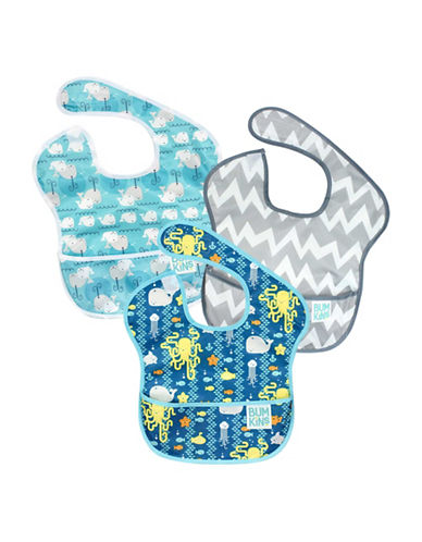 Bumkins Sea Friends, Chevron and Whales SuperBib Set-MULTI-One Size