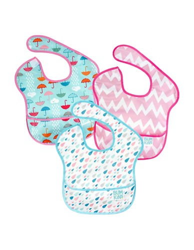Bumkins Rain Drops, Chevron and Umbrella SuperBib Set-MULTI-One Size