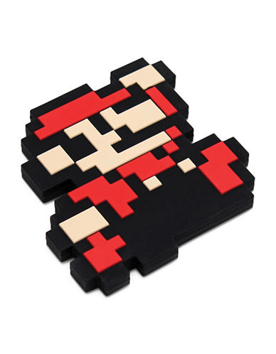 Bumkins Nintendo 8-Bit Super Mario Silicone Teethers-RED-One Size