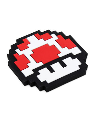 Bumkins Nintendo 8-Bit Mushroom Silicone Teethers-RED-One Size