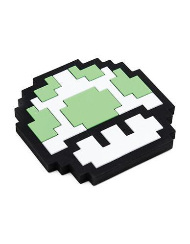 Bumkins Nintendo 8-Bit Mushroom Silicone Teethers-GREEN-One Size