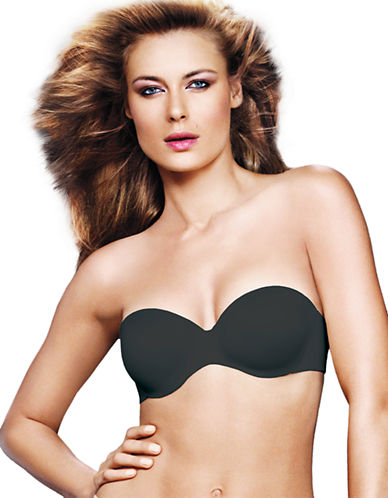 Maidenform Comfort Devotion Custom Lift Strapless Bra-BLACK-38D