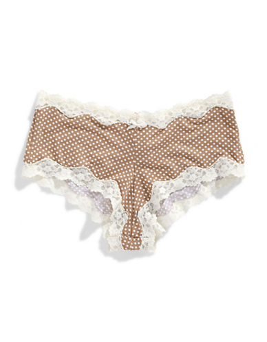 Maidenform Cotton Hipster-BROWN-Small