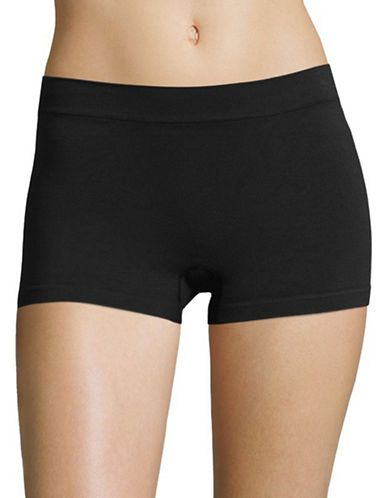 Maidenform Pure Genius Seamless Boy Shorts-BLACK-X-Large