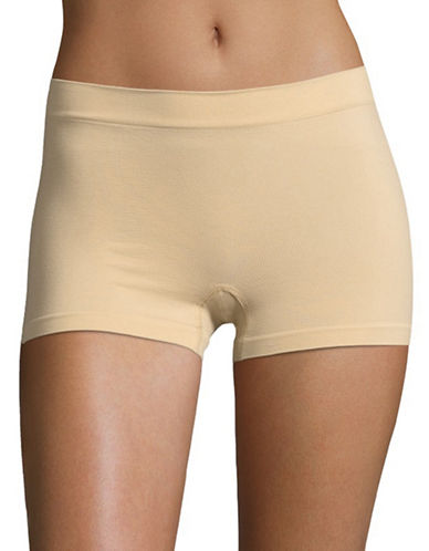 Maidenform Pure Genius Seamless Boy Shorts-LATTE-Large