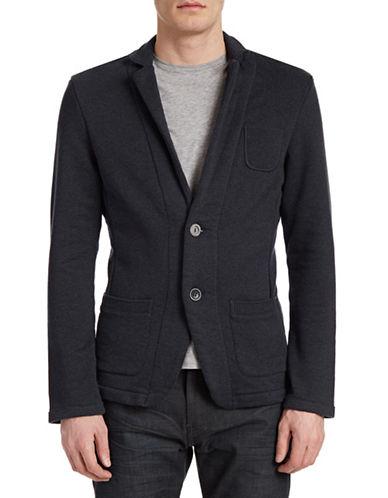 Boss Orange Cotton Cardigan Jacket-BLACK-Large