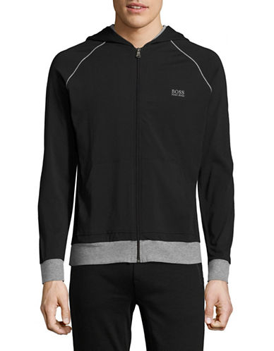 Boss Hooded Lounge Jacket-BLACK-Medium 89093697_BLACK_Medium