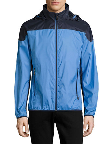 Boss Green Jiano Windbreaker Jacket-MEDIUM BLUE-Small