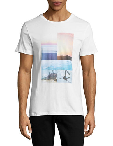 Boss Orange Slim Fit Landscape Collage T-Shirt-WHITE-Small 88954327_WHITE_Small