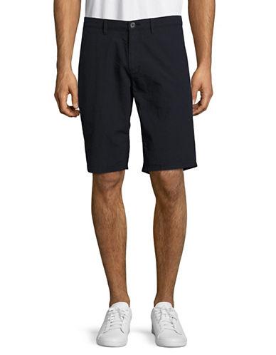 Boss Orange Slim Fit Tonal Stripe Shorts-BLUE-34