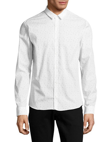 Hugo Ero3 Extra Slim Fit Printed Sport Shirt-WHITE-X-Large