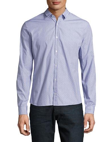 Hugo Perforated Dot Shirt-BLUE-X-Large