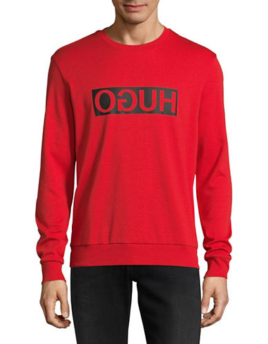 Hugo Dicago Mirrored Logo Sweatshirt-RED-Medium