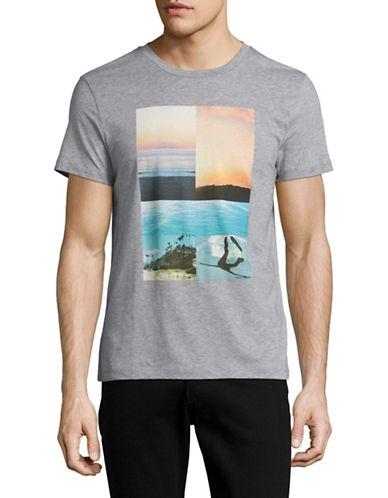 Boss Orange Slim Fit Landscape Collage T-Shirt-GREY-Medium 88954333_GREY_Medium