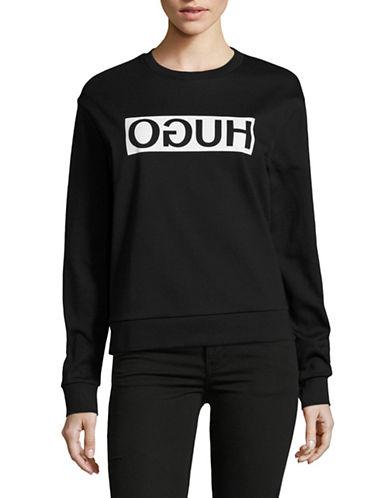 Hugo Nicci Logo Sweatshirt-BLACK-X-Large 89025848_BLACK_X-Large