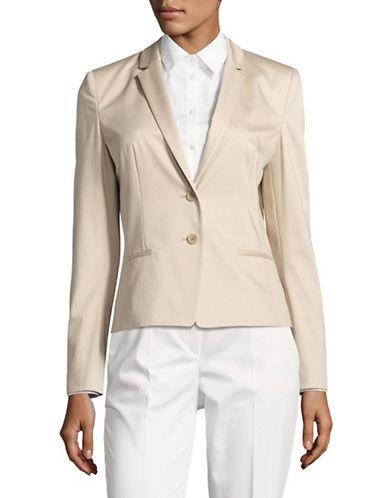 Hugo Afrona Stretch-Cotton Jacket-BEIGE-EUR 42/US 10