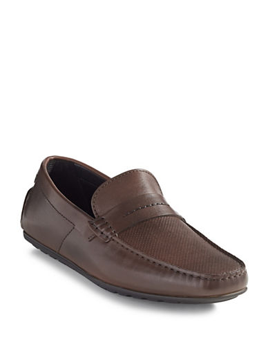 Hugo Leather Moccasins-LIGHT BROWN-9