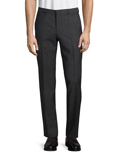 Hugo Wool-Blend Dress Pants-CHARCOAL-32