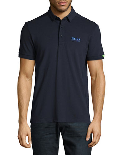 Boss Green Paddy Polo Shirt-NAVY-Large