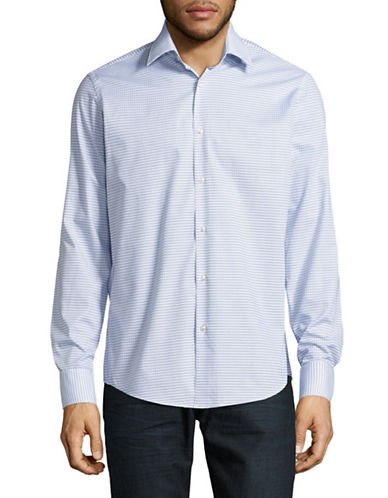 Hugo C-Enzo Regular-Fit Sport Shirt-BLUE-EU 42/US 16.5