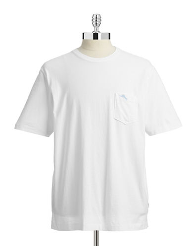 Tommy Bahama Pima Cotton Chest Pocket T-Shirt-WHITE-X-Large