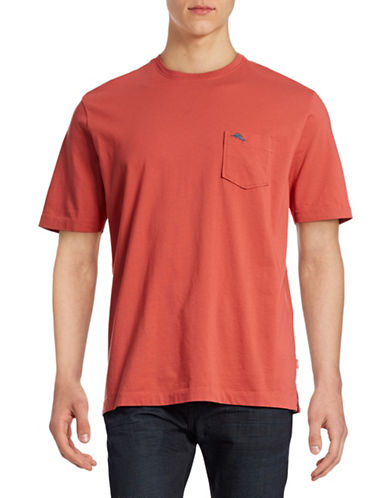 Tommy Bahama Pima Cotton Chest Pocket T-Shirt-CORAL REEF-Large