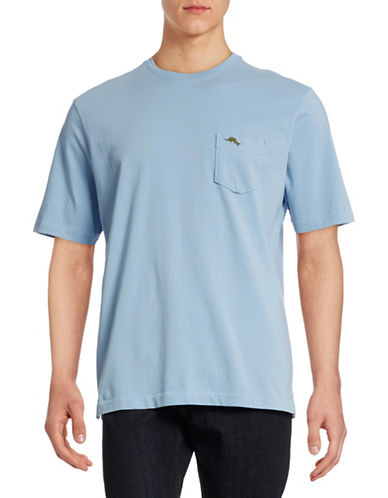 Tommy Bahama Pima Cotton Chest Pocket T-Shirt-FLUID BLUE-Large