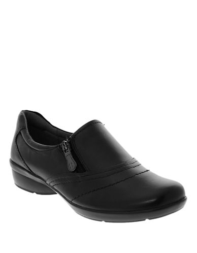 Naturalizer Clarissa Leather Shoes-BLACK-8.5
