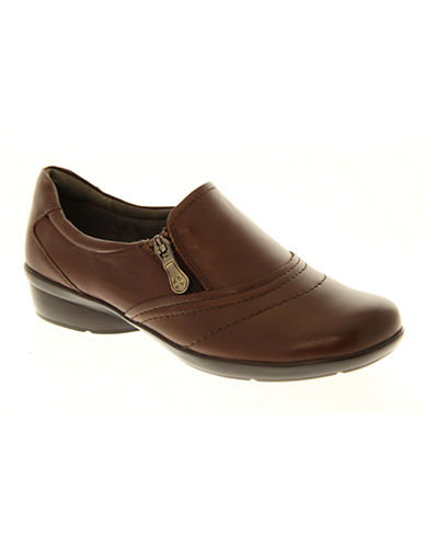 Naturalizer Clarissa Leather Shoes-COFFEE-6.5