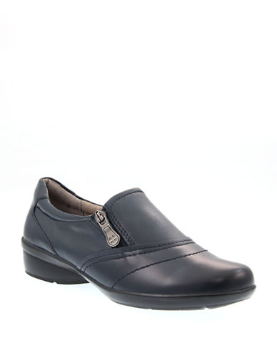Naturalizer Clarissa Leather Shoes-NAVY-6W
