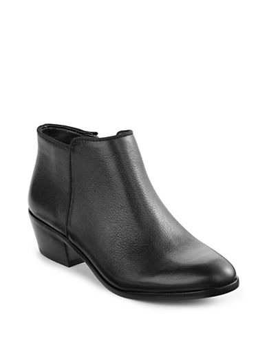 Sam Edelman Petty Western Leather Booties-BLACK/BLACK-7.5
