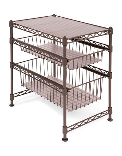 Seville Classics Two-Drawer Stackable Cabinet Organizer-BRONZE-One Size