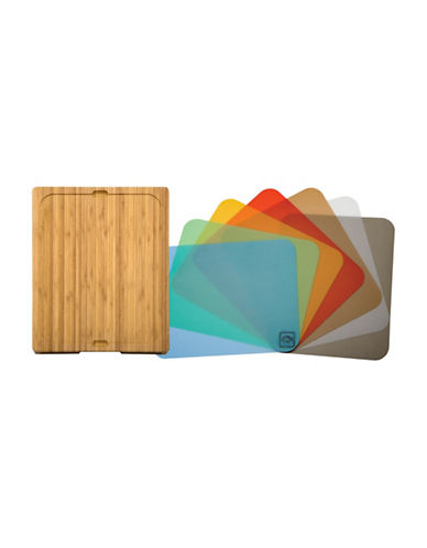Seville Classics Bamboo Cutting Board with Mats-BAMBOO-One Size