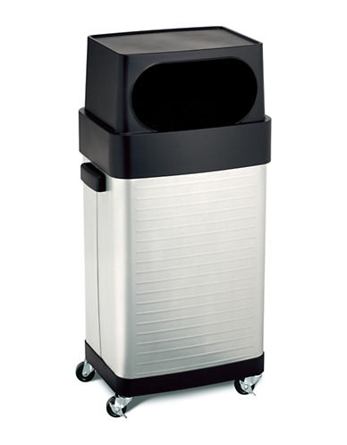 Seville Classics 17 Gallon UltraHD Stainless Steel Trash Can-GREY-One Size