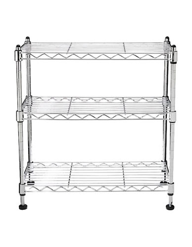 Seville Classics Three-Shelf Counter and Cabinet Organizer-GREY-One Size