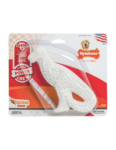 Nylabone Textured T-Rex Dental Chew Toy-WHITE-Medium