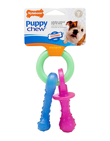 Nylabone Puppy Teething Pacifier-MULTI-X-Small