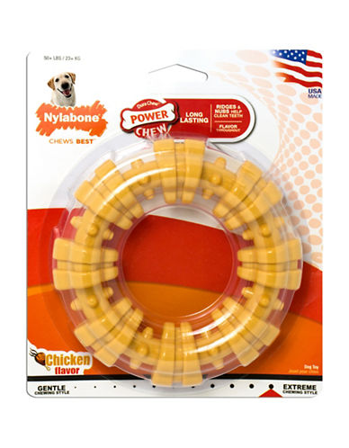 Nylabone Durachew Textured Ring Dog Chew - Chicken Flavour-NO COLOUR-One Size