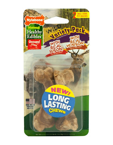 Nylabone Edibles Variety Venison and Bison Assortment Pack-NO COLOUR-Small