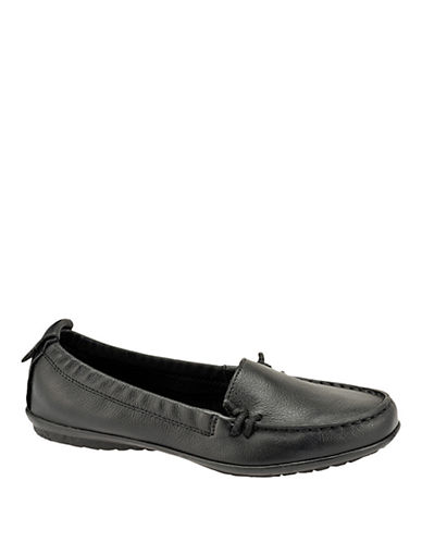 Hush Puppies Ceil Slip On Loafer-BLACK-8.5W