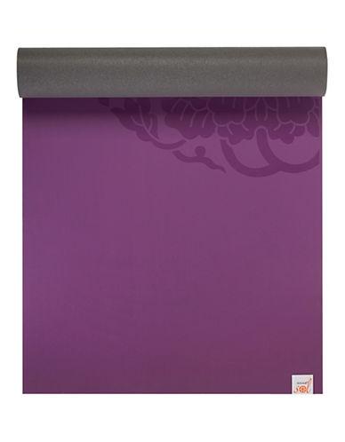 Gaiam Sol Dry-Grip Yoga Mat-PURPLE-One Size