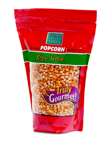 Wabash Big and Yellow Gourmet Popcorn 2lb Gusseted Bag-YELLOW-One Size