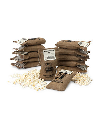 Wabash Tender and White Gourmet Popping Corn in 2 lb Burlap Sack-WHITE-One Size