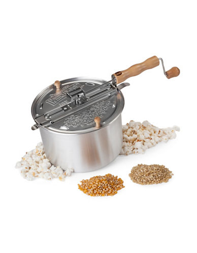 Wabash Silver Metal Gear Whirley-Pop with Hull-Less Popcorn-SILVER-One Size