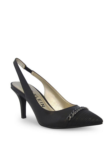 Anne Klein Yavari Slingback Pumps-BLACK-10
