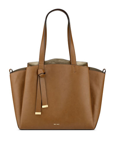 Nine West Gaya Tote-BROWN-One Size