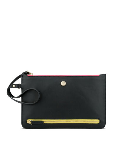 Nine West Table Treasure Tri-Zip Travel Pouch-BLACK-One Size
