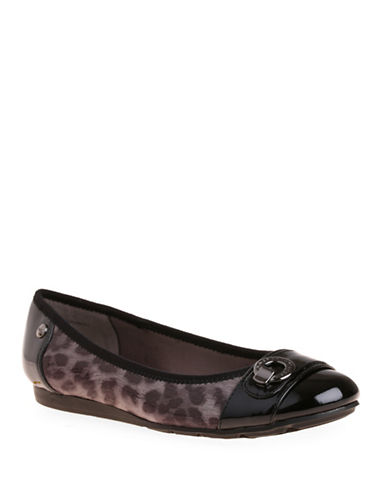 Anne Klein Azi Animal Printed Round Toe Flats-ANIMAL-10