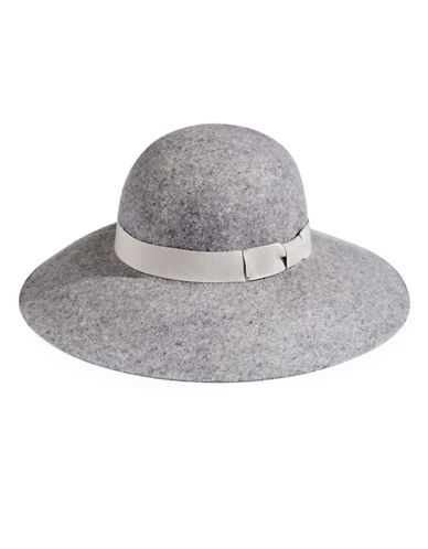 Lauren Ralph Lauren Felt Wool Floppy Hat-CHARCOAL-One Size